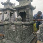 Thi công lắp đặt mộ đá xanh rêu tại Nghĩa trang Làng Đinh Xá, Xã Nguyệt Đức, Huyện Yên Lạc, Vĩnh Phúc