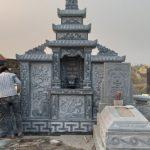 Thi công lắp đặt lăng mộ đá nhà Anh Tư tại Dục Tú –  Đông Anh – Hà Nội