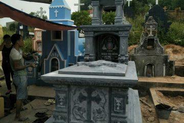 Thi công lăng mộ công giáo Nhà  Anh Dương – Sồi Cầu, Bắc Ninh